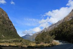 Paysage montagneux du Nouvelle-Zélande Photo libre de droits