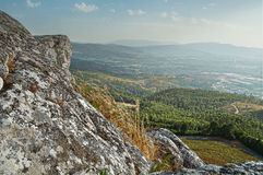 Paysage montagneux du Portugal du nord images libres de droits