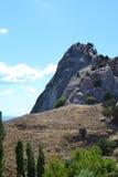 Paysage montagneux en Crimée image stock