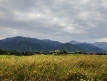Paysage montagneux typique sur l'île du sud du Nouvelle-Zélande photos stock