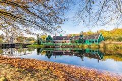 Paysage néerlandais typique de village photo libre de droits