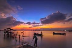 Paysage, nature, clauds, cieux, ciel, coucher du soleil, lever de soleil, lac, Images libres de droits