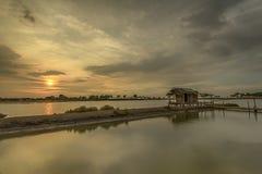 Paysage, nature, clauds, cieux, ciel, coucher du soleil, lever de soleil, lac, Photographie stock