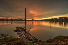 Paysage, nature, clauds, cieux, ciel, coucher du soleil, lever de soleil, lac, Image stock