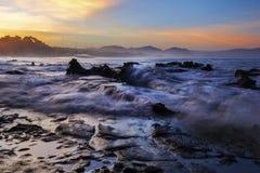 Paysage, nature, clauds, cieux, ciel, coucher du soleil, lever de soleil, lac, Photos stock