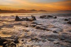 Paysage, nature, clauds, cieux, ciel, coucher du soleil, lever de soleil, lac, Images stock