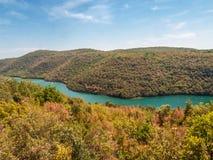 Paysage naturel, Croatie image libre de droits