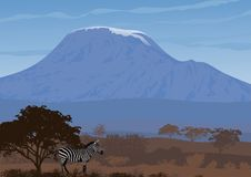 Paysage naturel de la savane africaine Illustration de vecteur Photos libres de droits