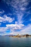 Paysage naturel de lac garda beau Photo stock