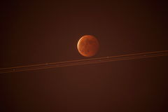 Paysage naturel de lune rouge Photo libre de droits