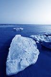 Marchez le paysage naturel de glace résiduelle Images libres de droits
