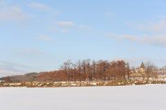 Paysage neigeux d'hiver au Hokkaido Image libre de droits