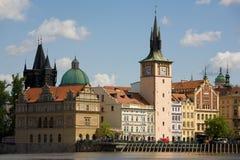 Paysage neuf de ville de Prague Images libres de droits