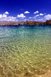Paysage Nevada de plage de Mohave de lac Images stock