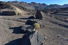 Paysage noir Death Valley de désert de montagnes Images stock