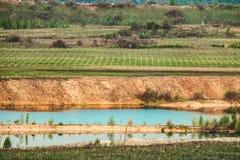 paysage Non-écologique avec l'érosion technogenic des sols photo stock