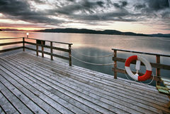 Paysage norvégien de fjord Image stock