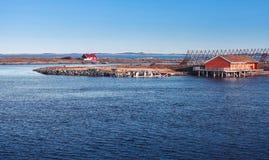 Paysage norvégien rural côtier Image libre de droits