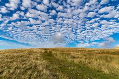 Paysage nuageux dans les vallées de Yorkshire, R-U Photo libre de droits