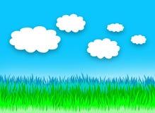 Paysage nuageux de jour Photographie stock