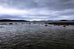 Paysage nuageux de mer en Croatie Photographie stock libre de droits