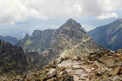 Paysage nuageux de montagne Photo libre de droits
