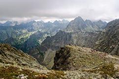 Paysage nuageux de montagne Images libres de droits