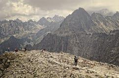 Paysage nuageux de montagne Image stock