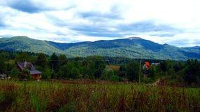 Paysage nuageux des montagnes polonaises Photo libre de droits