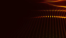 Paysage numérique futuriste abstrait de vecteur Photo stock