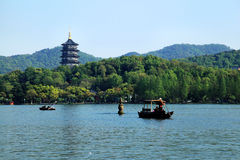 Paysage occidental de lac Hangzhou Image libre de droits