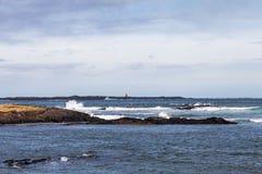 Paysage orageux de mer en Islande image libre de droits