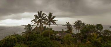 Paysage orageux de plage Image stock