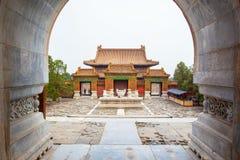 Paysage oriental de mausolée de Cixi de mausolées de Qing Photo libre de droits