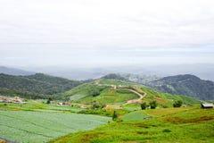 Paysage oriental de montagne en Thaïlande Photos libres de droits