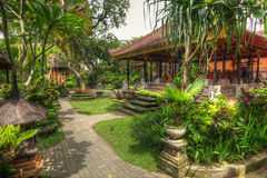 Paysage paisible dans Istana Ubud, Bali, Indonésie image stock