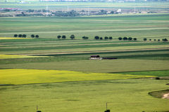 Paysage panoramique avec la maison d'isolement Image libre de droits