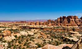 Paysage panoramique de canyon de désert Photos stock