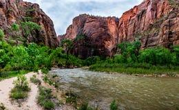 Paysage panoramique de Zion National Park, Utah image stock