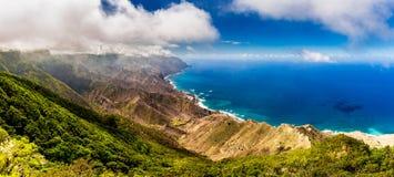 Paysage panoramique en montagnes d'Anaga, Îles Canaries de Ténérife, images stock