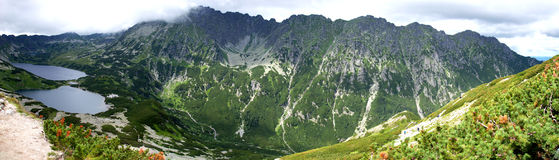 Paysage panoramique en montagnes de Tatra Images stock