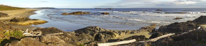 Paysage panoramique large Long Beach Pacifique Rim Vancouver Island images libres de droits