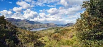 Paysage panoramique le jour ensoleillé en parc national de Killarney Image libre de droits