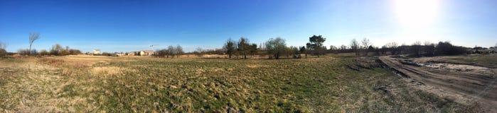 Paysage panoramique rural - image courante Photographie stock libre de droits