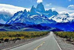 Paysage Patagonian dans la visibilité directe Glaciales de parc national dans Patagoni image libre de droits