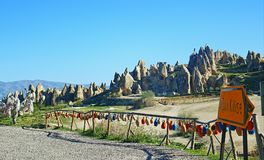 Paysage pittoresque turc Cappadocia Goreme Turquie de parc national photos stock