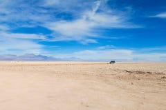 Paysage plat aride de désert d'Atacama photos libres de droits