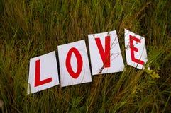 Paysage pour une histoire d'amour de l'amour sur une herbe verte image stock