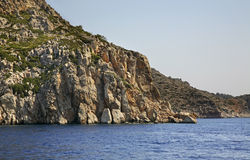 Paysage près d'île de Symi La Grèce Images libres de droits