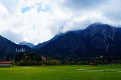 Paysage près de château de Neuschwanstein Photos libres de droits